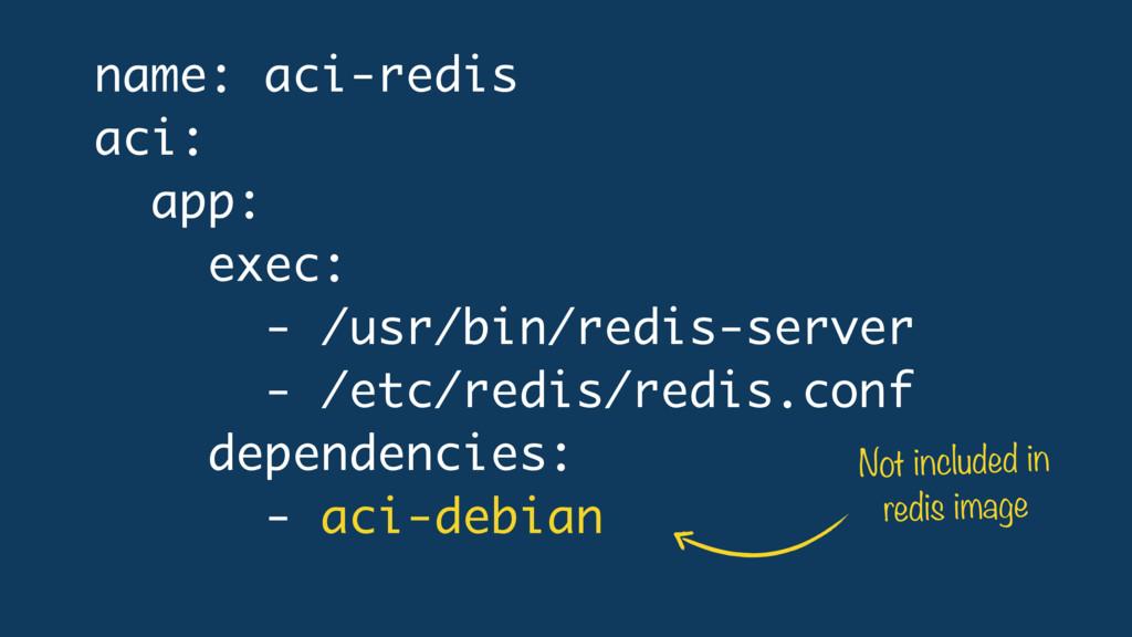 name: aci-redis aci: app: exec: - /usr/bin/redi...