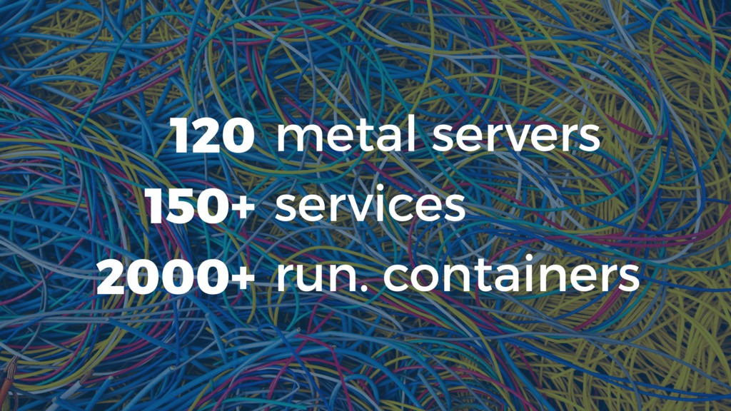 metal servers services run. containers 120 150+...