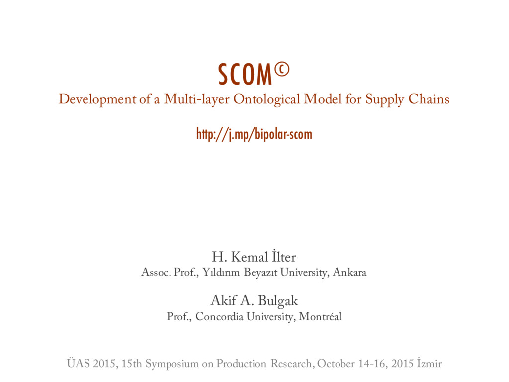 SCOM© Development of a Multi-layer Ontological ...