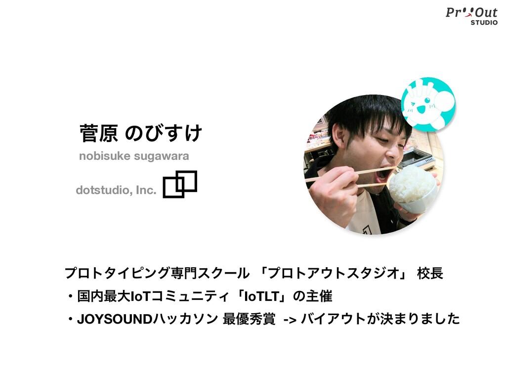 ੁݪ ͷͼ͚͢ dotstudio, Inc. nobisuke sugawara ϓϩτλΠ...