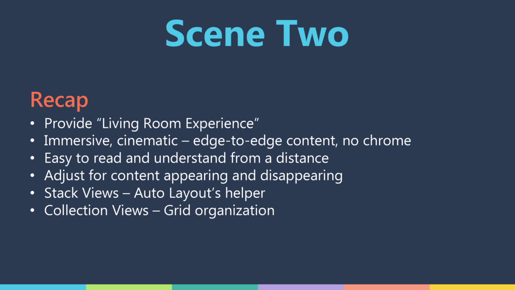 "Scene Two • Provide ""Living Room Experience"" • ..."