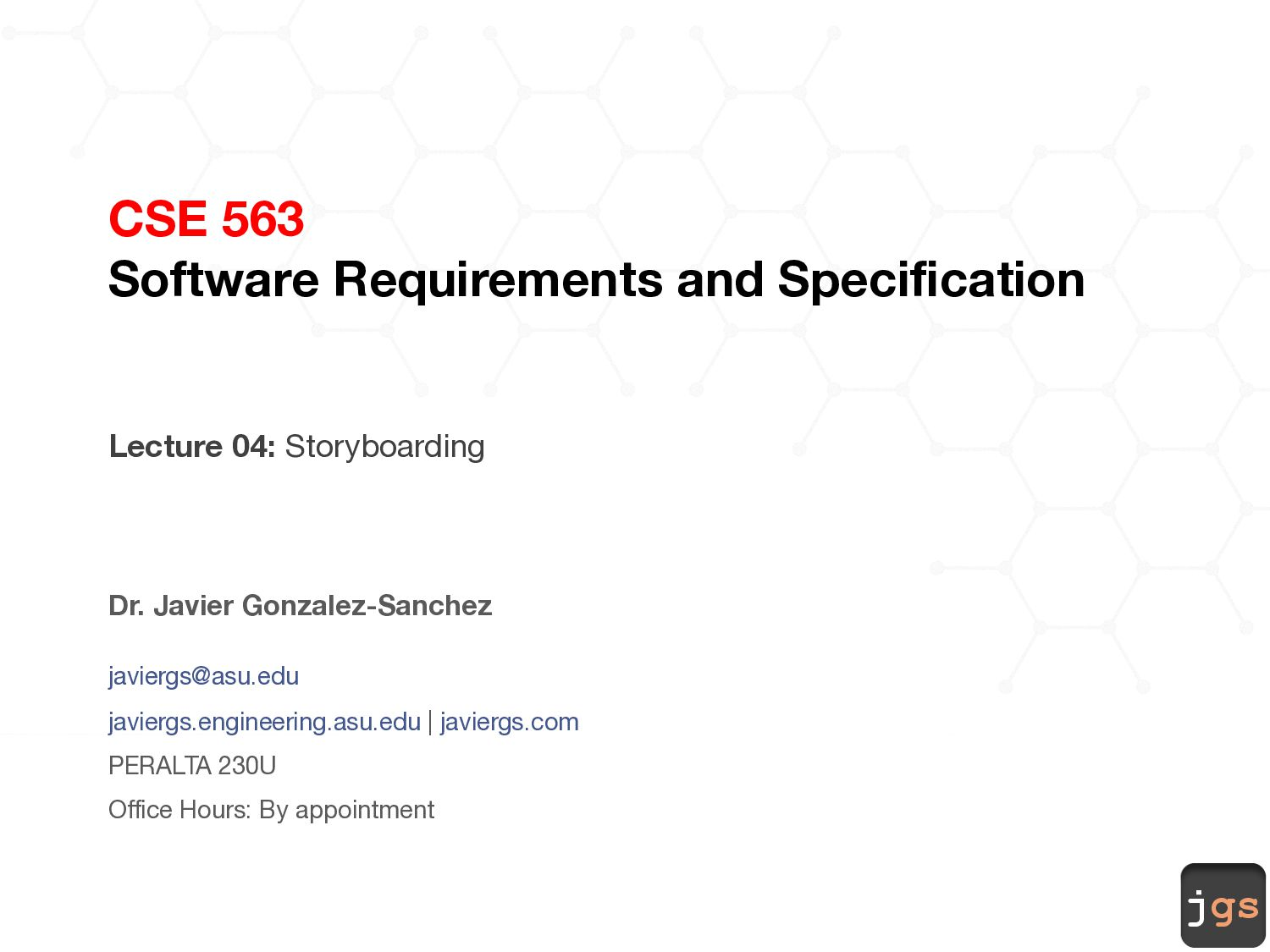 jgs CSE 563 Software Requirements and Specifica...