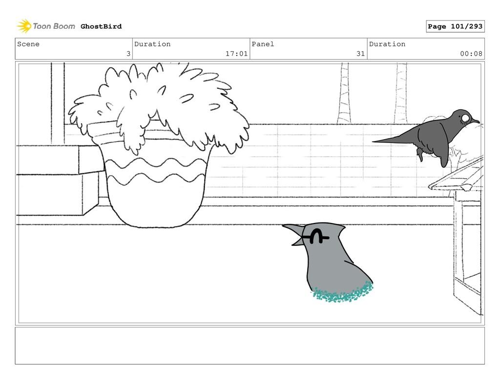 Scene 3 Duration 17:01 Panel 31 Duration 00:08 ...