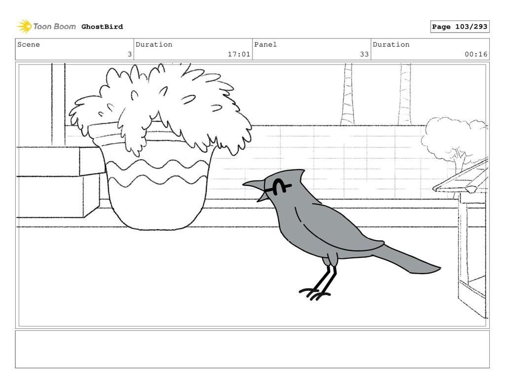 Scene 3 Duration 17:01 Panel 33 Duration 00:16 ...