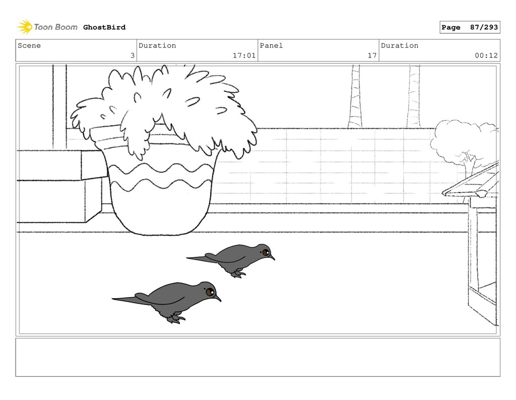 Scene 3 Duration 17:01 Panel 17 Duration 00:12 ...