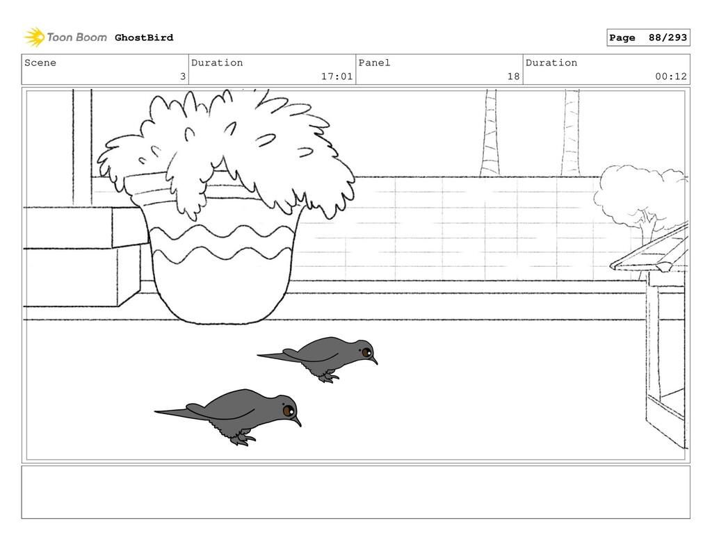 Scene 3 Duration 17:01 Panel 18 Duration 00:12 ...