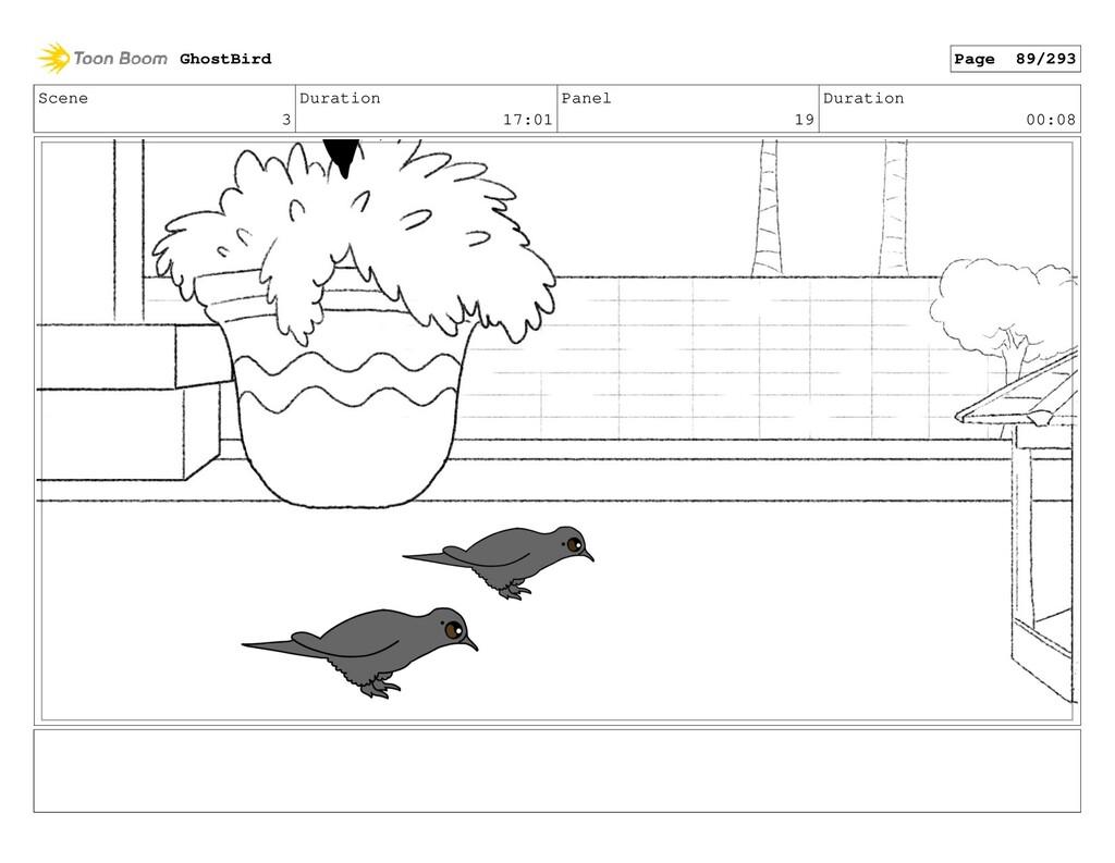 Scene 3 Duration 17:01 Panel 19 Duration 00:08 ...
