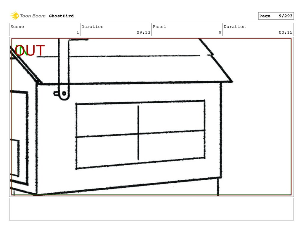 Scene 1 Duration 09:13 Panel 9 Duration 00:15 G...