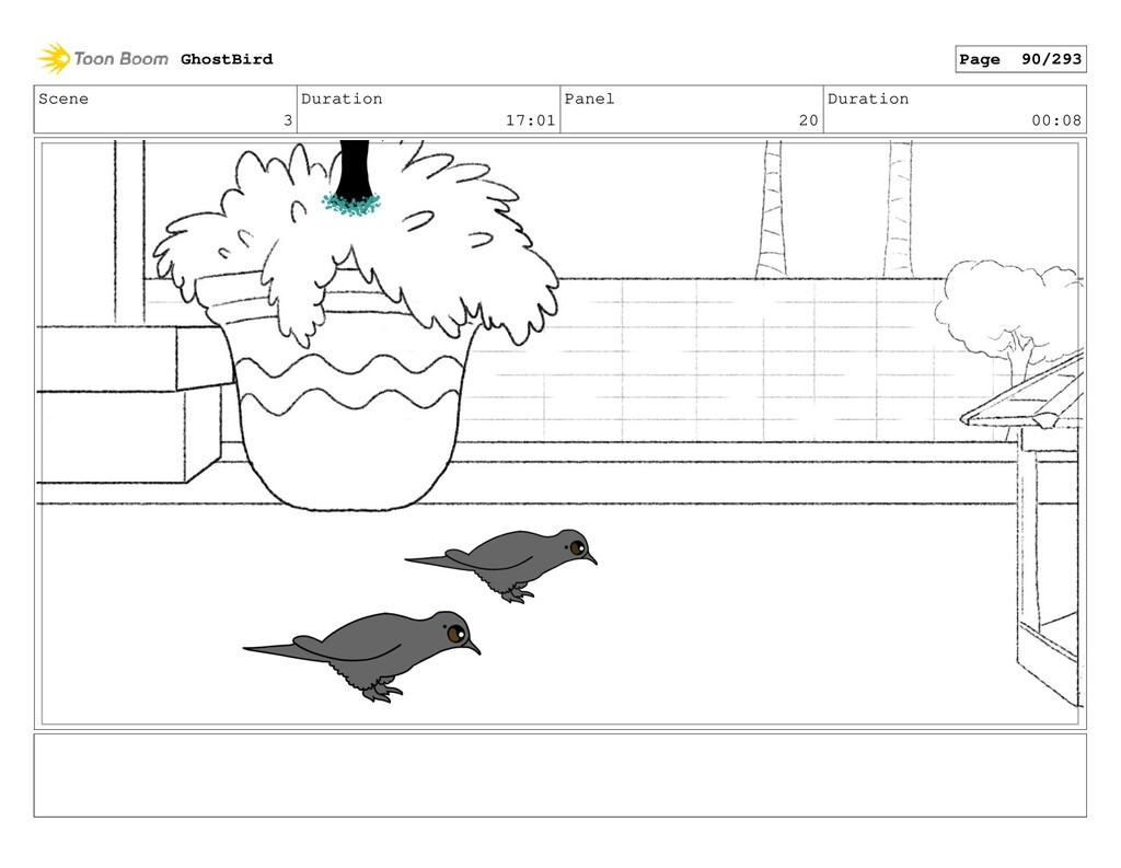 Scene 3 Duration 17:01 Panel 20 Duration 00:08 ...