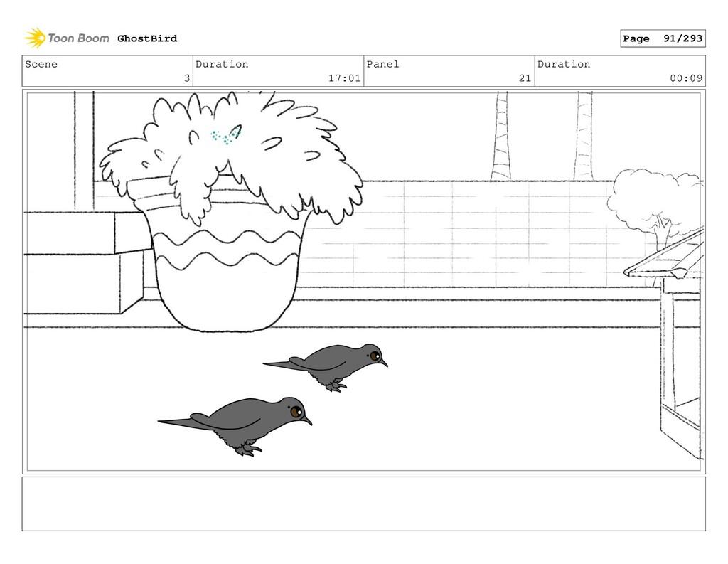 Scene 3 Duration 17:01 Panel 21 Duration 00:09 ...