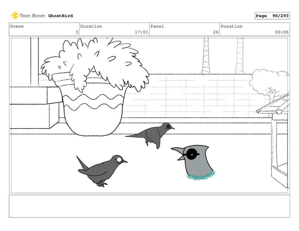 Scene 3 Duration 17:01 Panel 26 Duration 00:06 ...