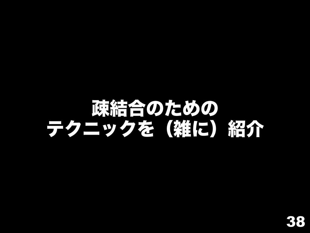 38 ૄ݁߹ͷͨΊͷ ςΫχοΫΛʢʹʣհ