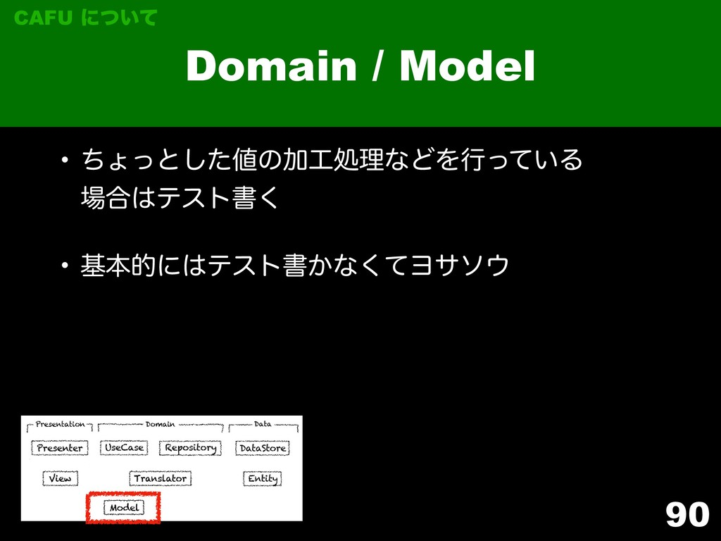90 Domain / Model CAFU ʹ͍ͭͯ w ͪΐͬͱͨ͠ͷՃॲཧͳͲΛߦͬ...