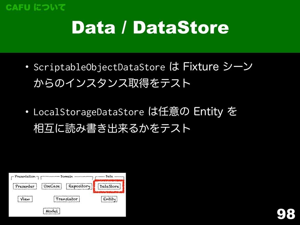 98 Data / DataStore CAFU ʹ͍ͭͯ w ScriptableObjec...