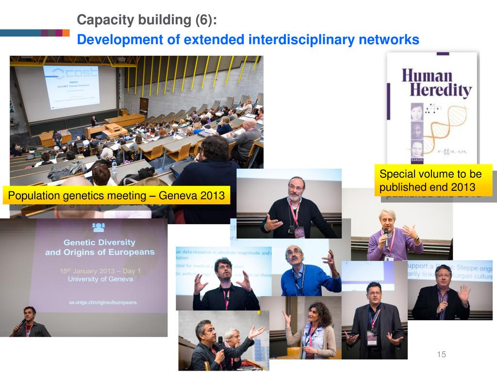 15 Capacity building (6): Development of extend...