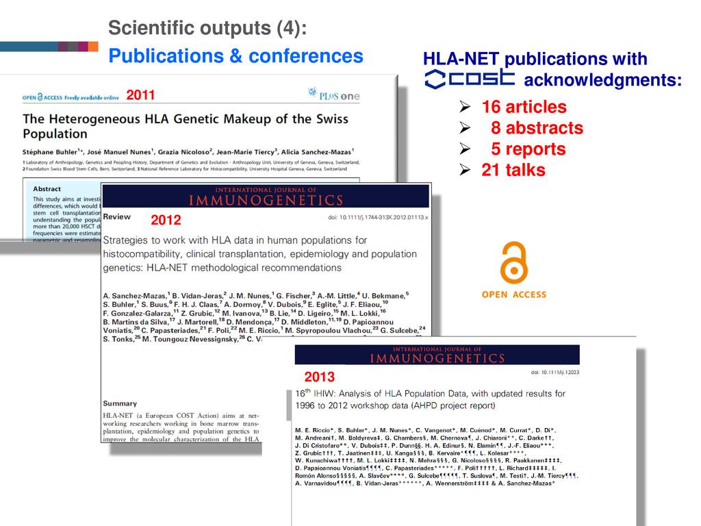 9 Scientific outputs (4): Publications & confer...