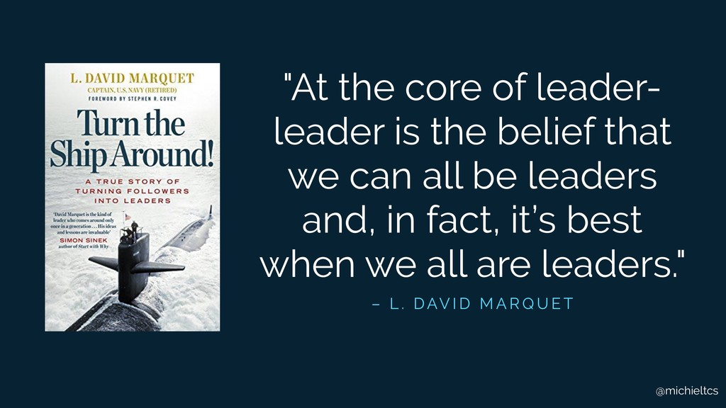"""@michieltcs """"At the core of leader- leader is t..."""