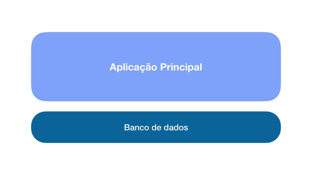 Banco de dados Aplicação Principal