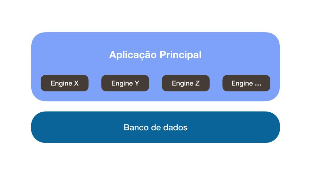 Engine X Engine Y Engine Z Engine … Banco de da...