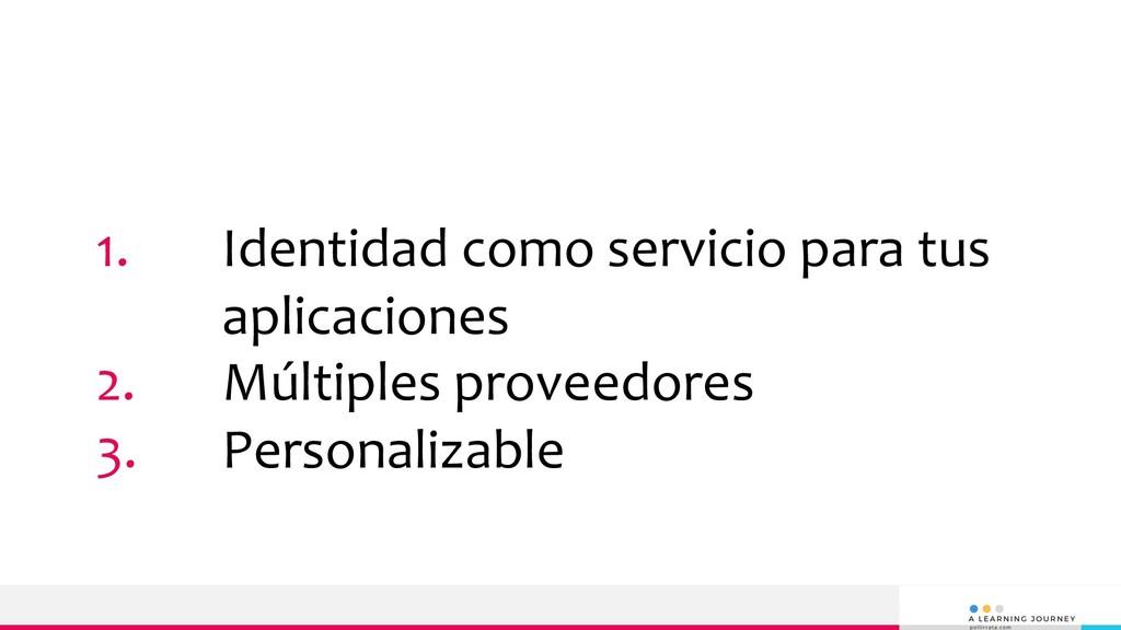 1. Identidad como servicio para tus aplicacione...