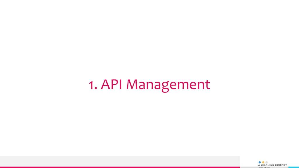 1. API Management