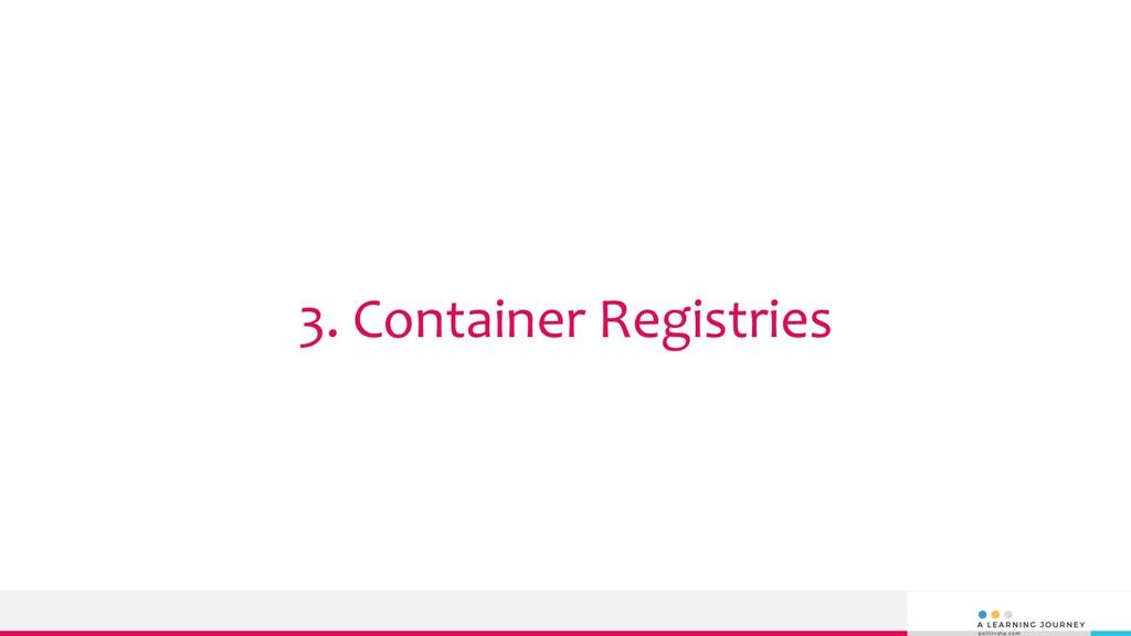 3. Container Registries