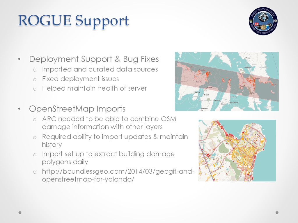 • Deployment Support & Bug Fixes o Imported a...