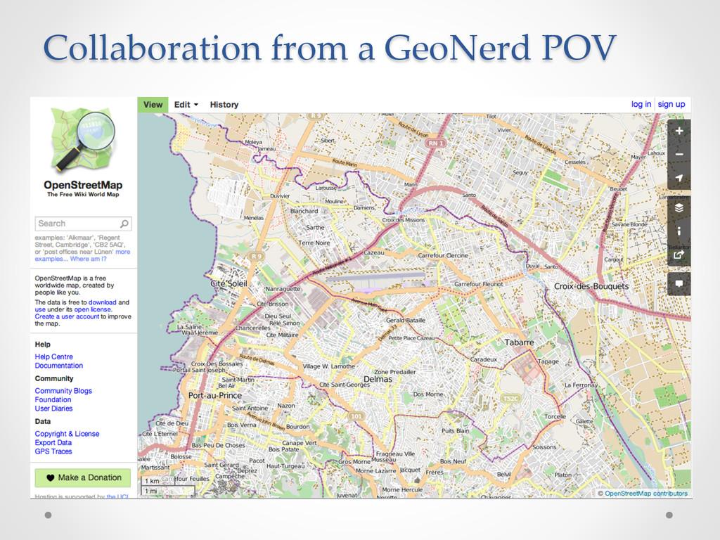 Collaboration from a GeoNerd POV