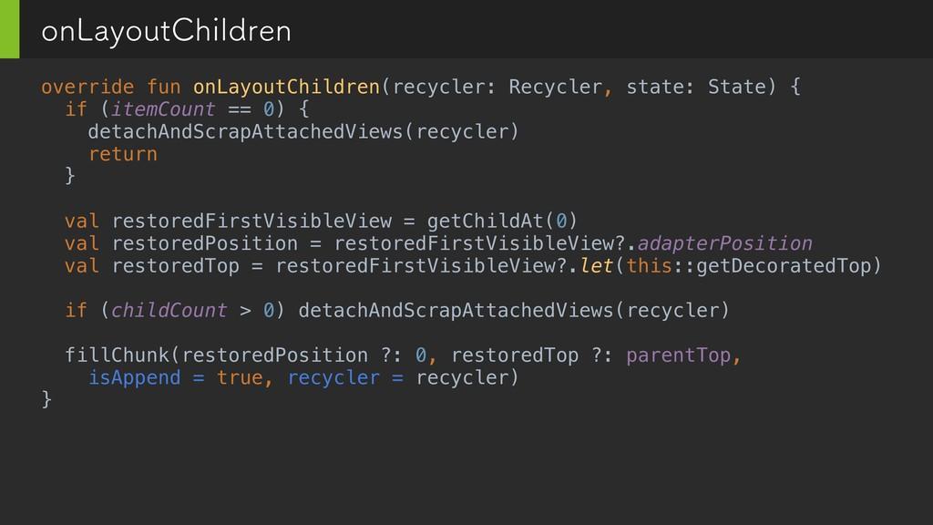 override fun onLayoutChildren(recycler: Recycle...