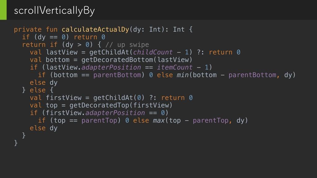 private fun calculateActualDy(dy: Int): Int { i...