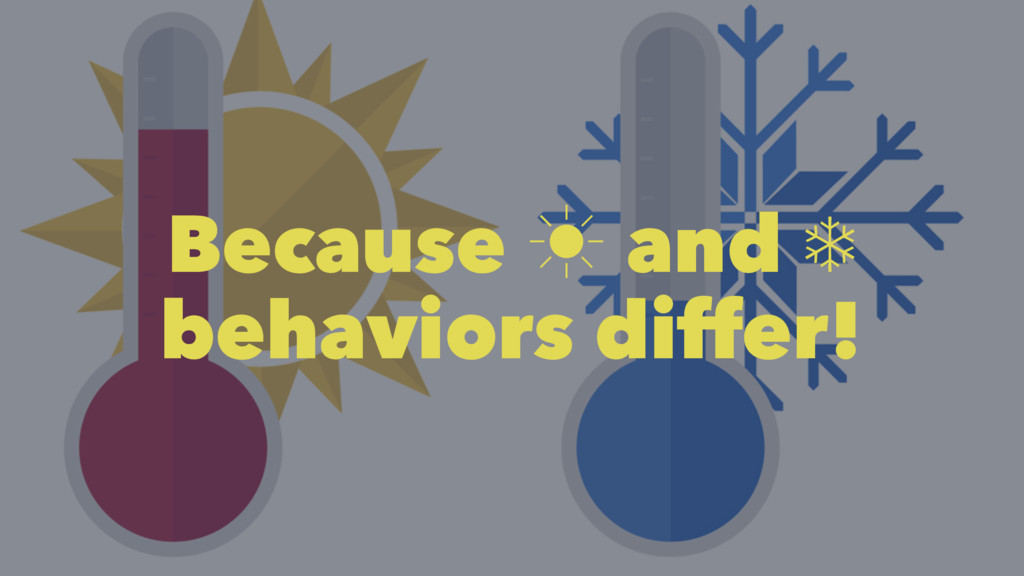 Because ‗ and ❄ behaviors differ!