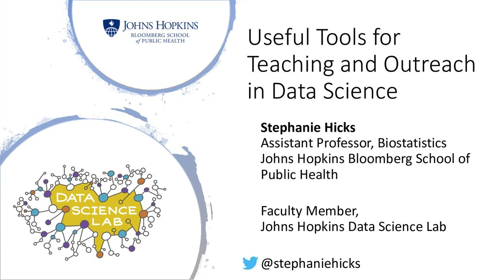 Useful Tools for Teaching and Outreach in Data ...