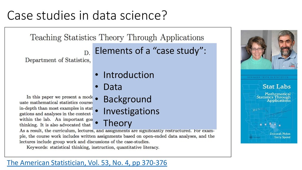 Case studies in data science? The American Stat...