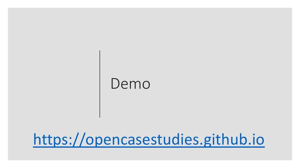 Demo https://opencasestudies.github.io