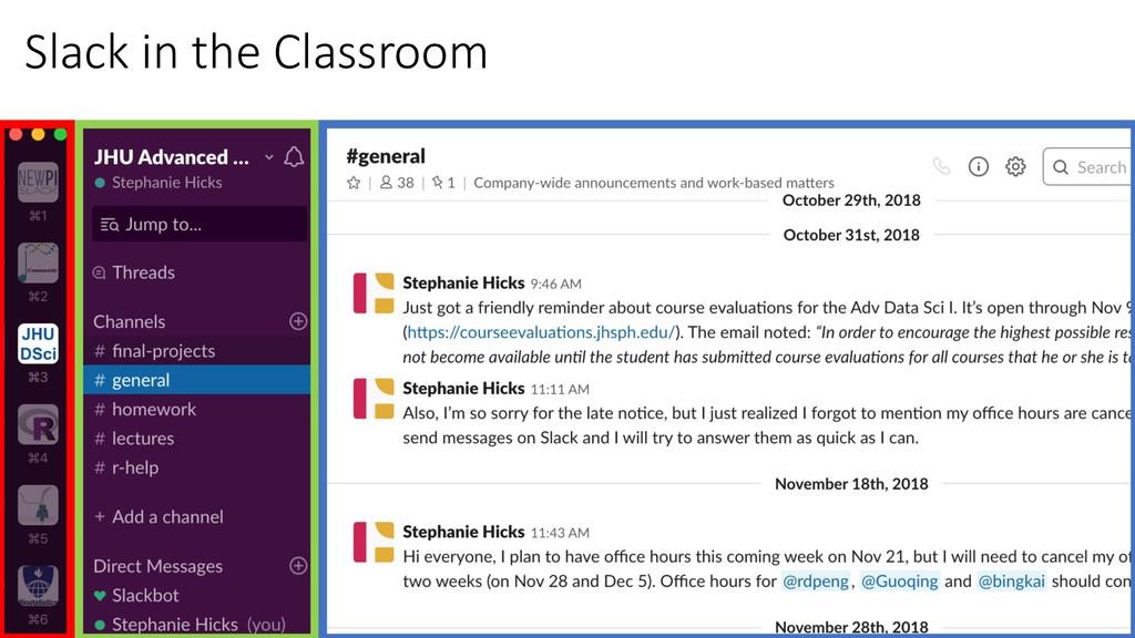 Slack in the Classroom