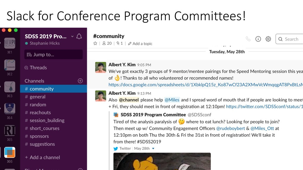 Slack for Conference Program Committees!