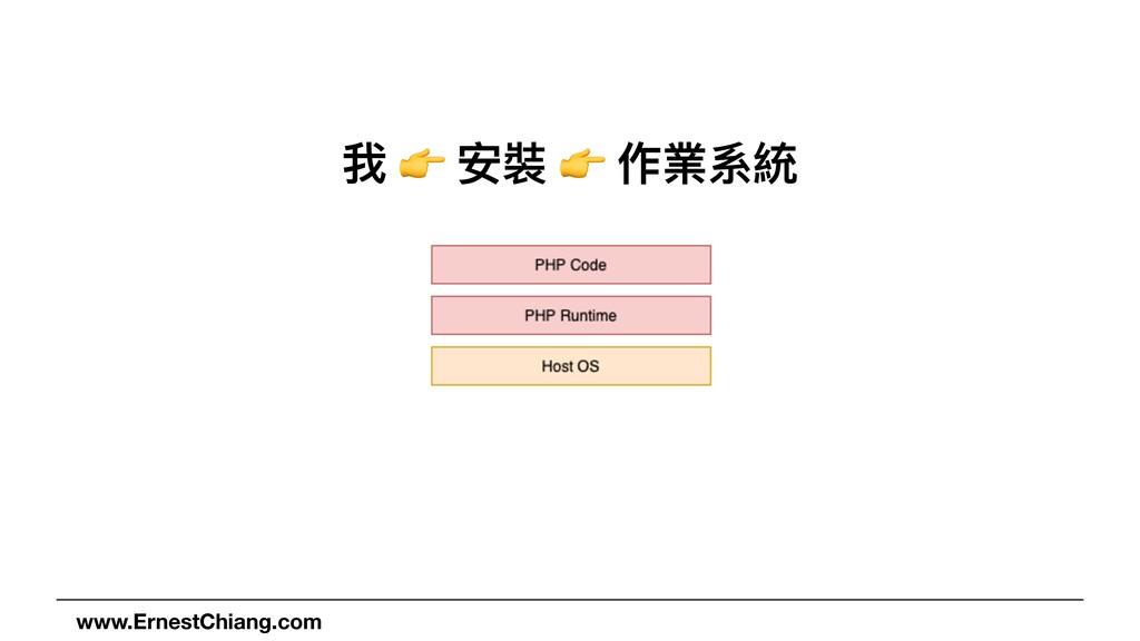 我 👉 安裝 👉 作業系統 www.ErnestChiang.com