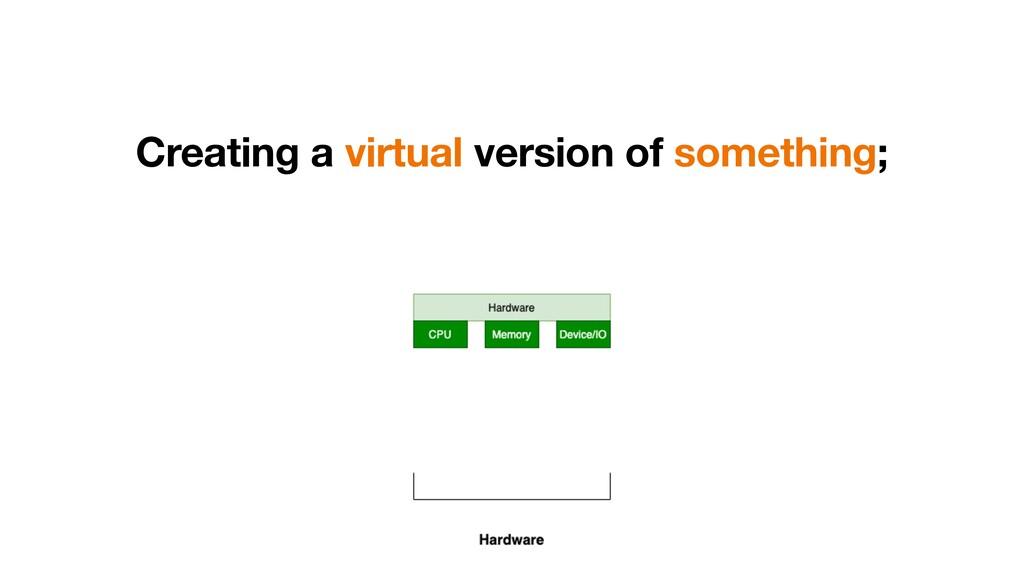 Creating a virtual version of something;