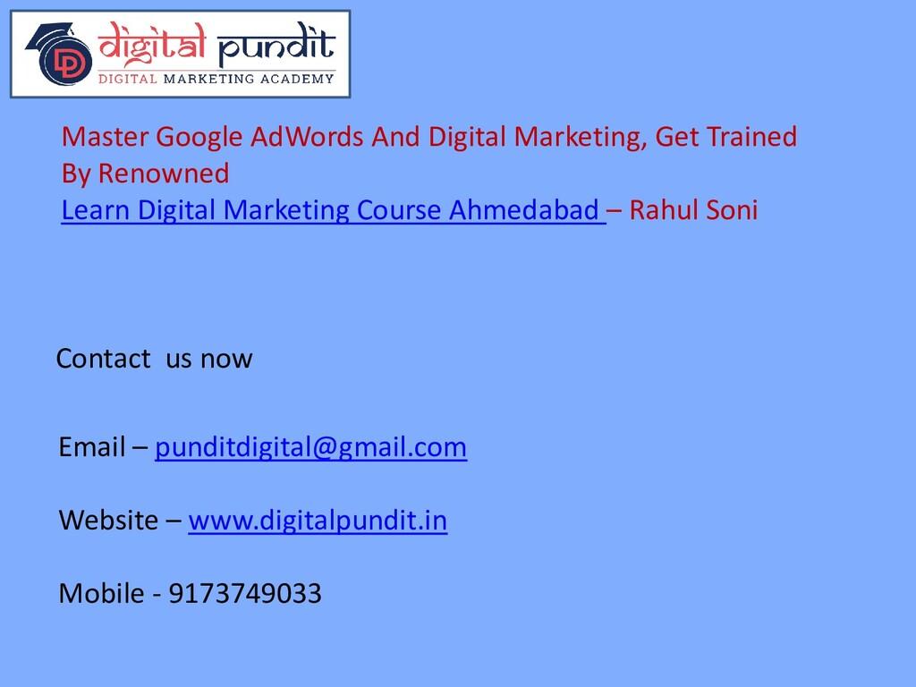 Email – punditdigital@gmail.com Website – www.d...