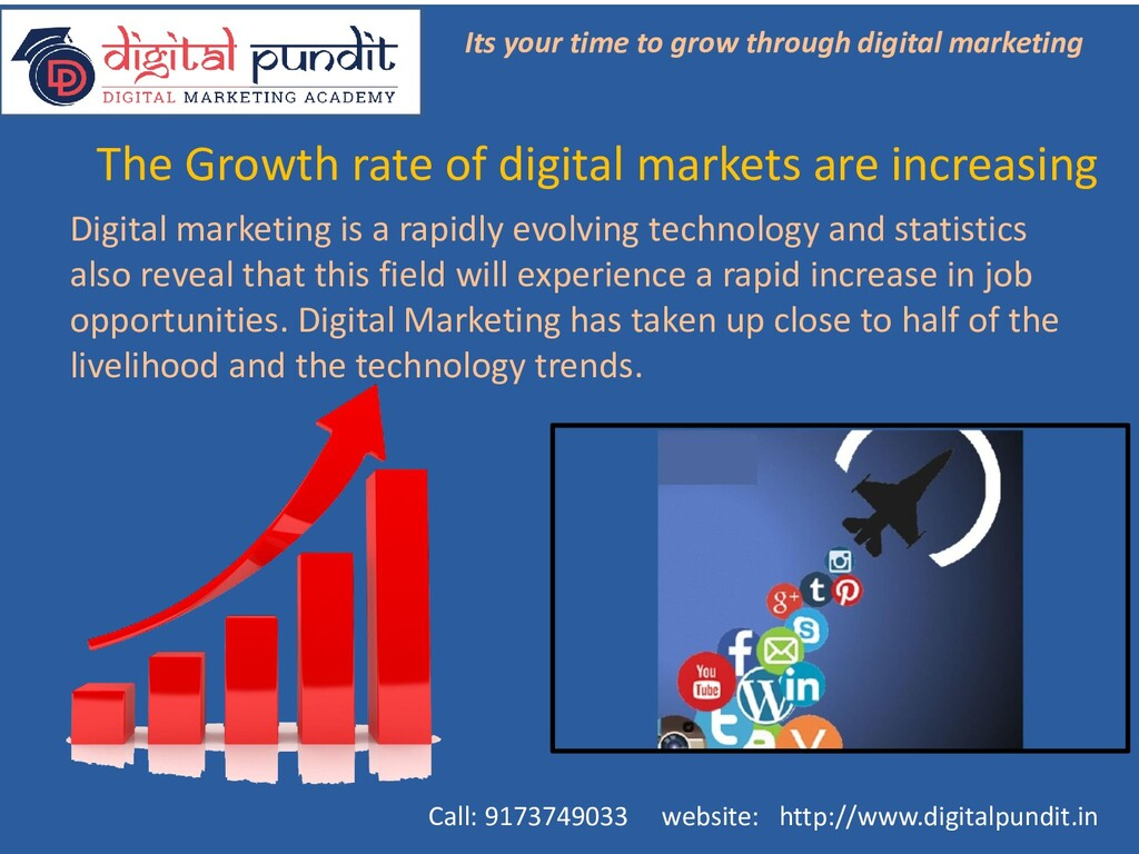 The Growth rate of digital markets are increasi...