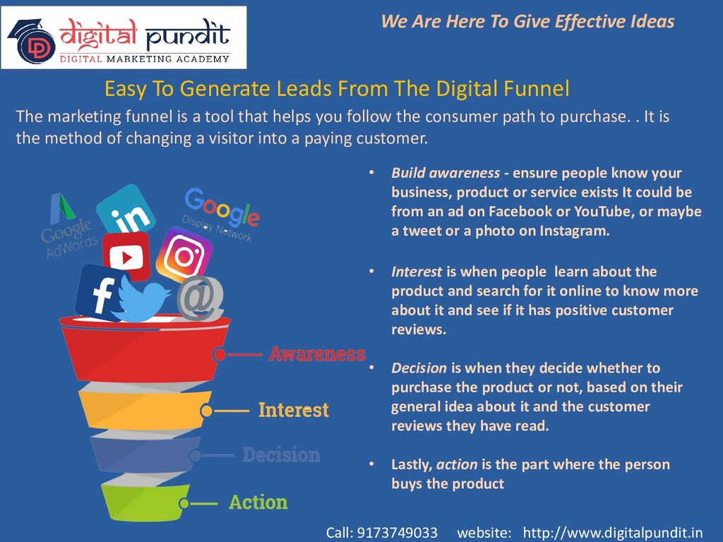 Easy To Generate Leads From The Digital Funnel ...