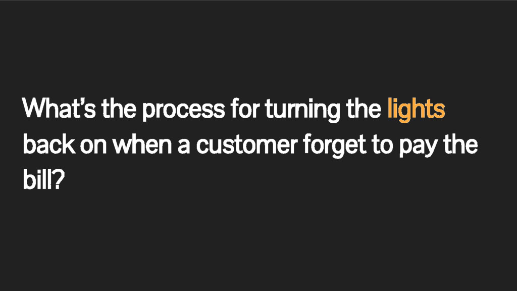 What's the process for turning the lights back ...