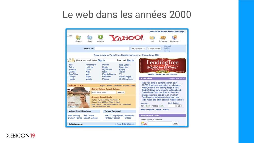 Le web dans les années 2000