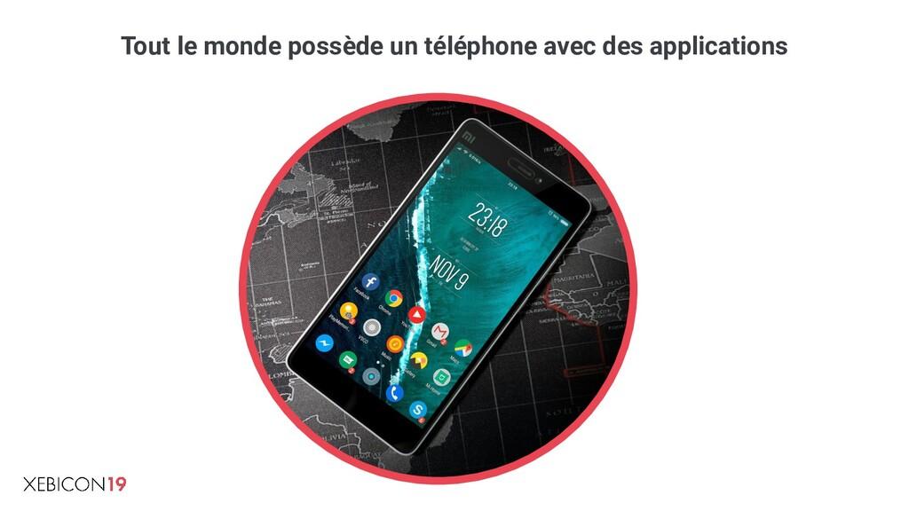 Tout le monde possède un téléphone avec des app...