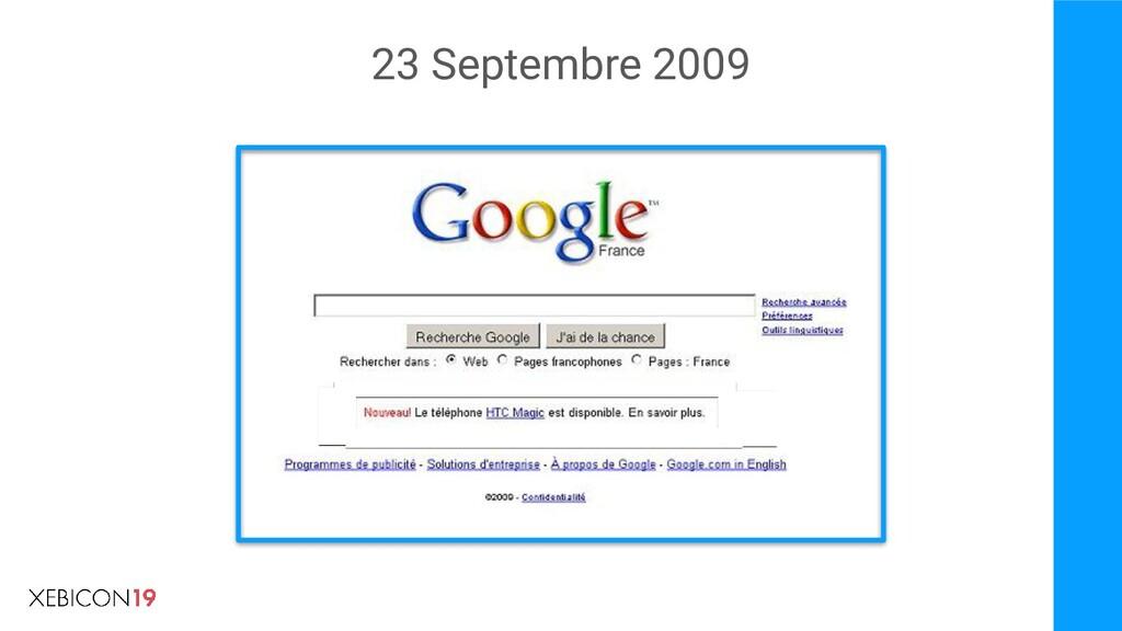 23 Septembre 2009
