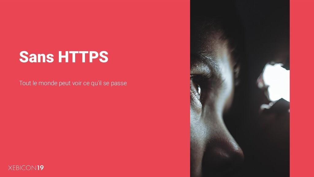 Sans HTTPS Tout le monde peut voir ce qu'il se ...