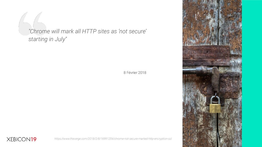 """Chrome will mark all HTTP sites as 'not secure..."