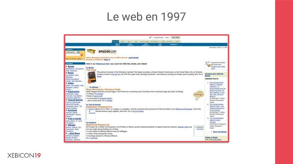 Le web en 1997