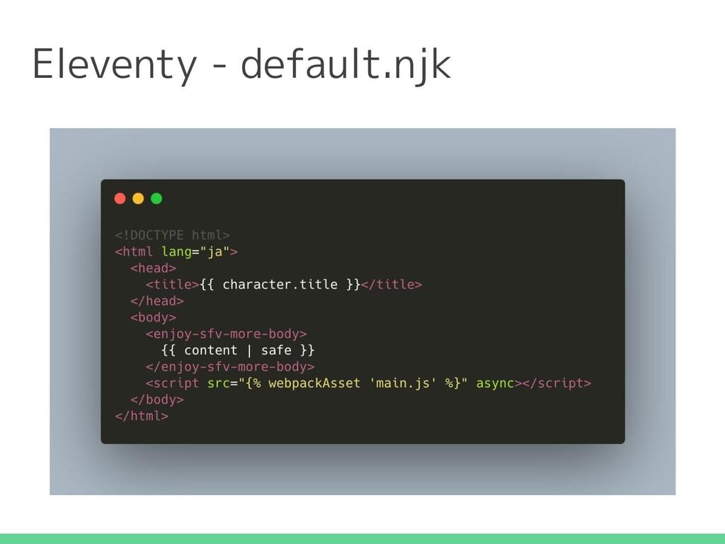 Eleventy - default.njk
