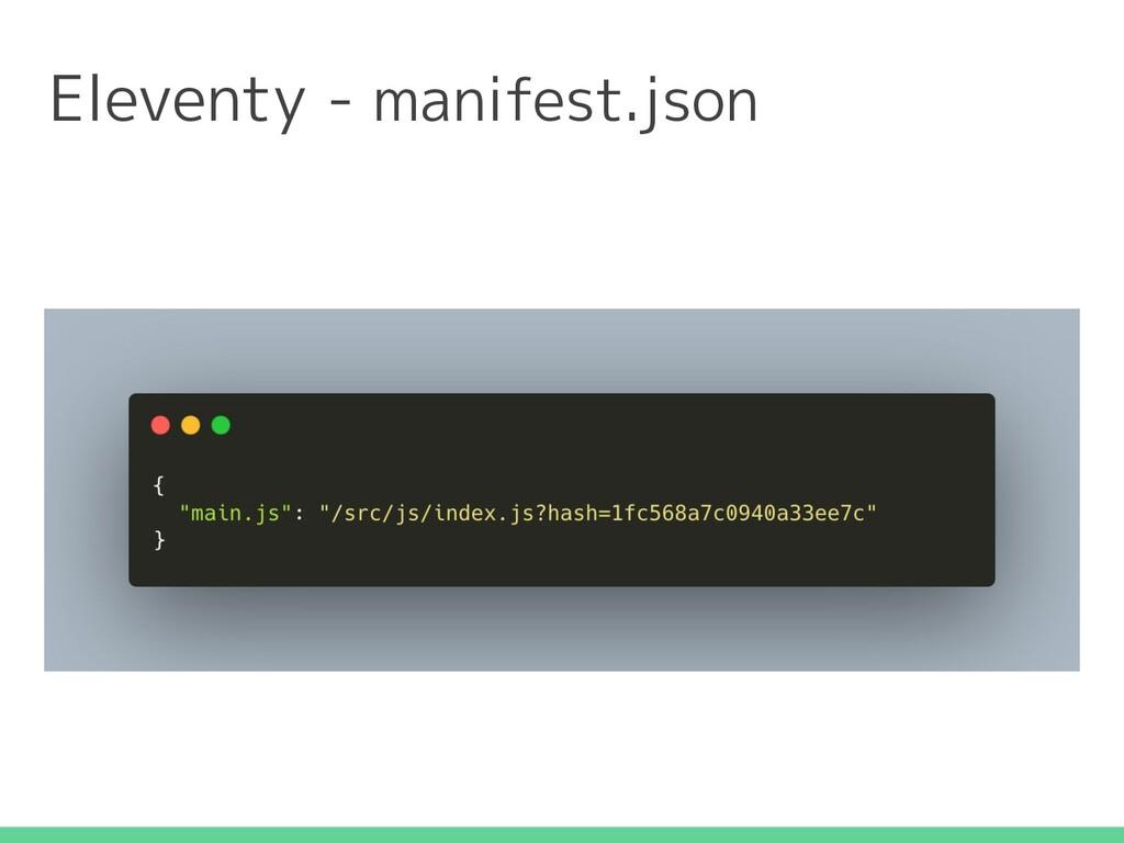 Eleventy - manifest.json